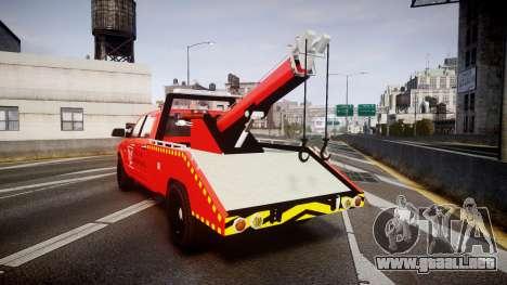 Dodge Ram 3500 Falck Service [ELS] para GTA 4 Vista posterior izquierda
