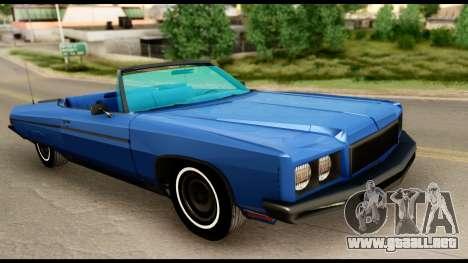 Chevy Caprice 1975 Beta v3 para la visión correcta GTA San Andreas