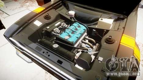 Ford Escort RS1600 PJ28 para GTA 4 vista hacia atrás