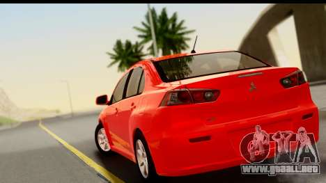 Mitsubishi Lancer X Stock para GTA San Andreas left