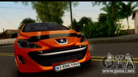 Peugeot 308 ENS Tuning para GTA San Andreas vista posterior izquierda