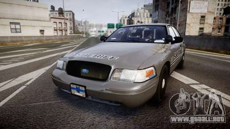 Ford Crown Victoria Sheriff K-9 Unit [ELS] para GTA 4