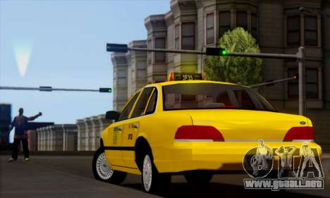 Ford Crown Victoria NY Taxi para GTA San Andreas left