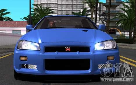 Nissan Skyline GT-R V Spec II 2002 para vista inferior GTA San Andreas