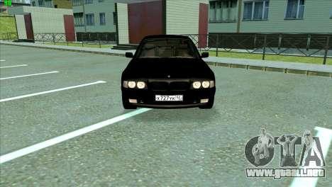 BMW 730i para GTA San Andreas vista posterior izquierda