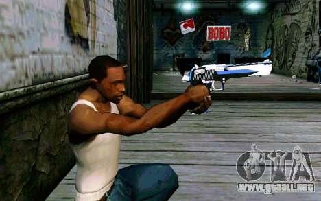 Blue Dragon Deagle para GTA San Andreas tercera pantalla