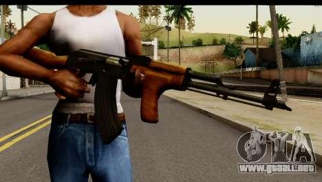 Modified AK47 para GTA San Andreas tercera pantalla