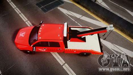 Dodge Ram 3500 Falck Service [ELS] para GTA 4 visión correcta