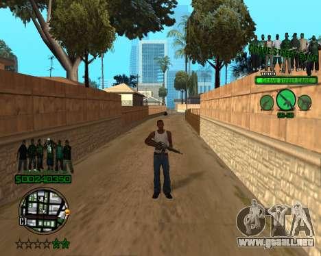 C-HUD Grove para GTA San Andreas segunda pantalla