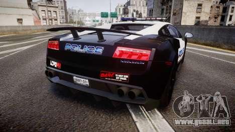 Lamborghini Gallardo LP570-4 LCPD [ELS] para GTA 4 Vista posterior izquierda