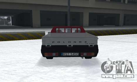 Daewoo FSO Polonez Truck Plus ST 1.9 D 2000 para GTA San Andreas vista posterior izquierda