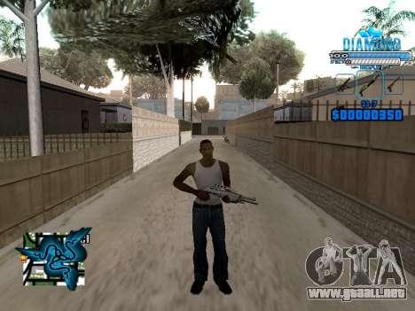 C-HUD Blek-Pro Diamond para GTA San Andreas tercera pantalla