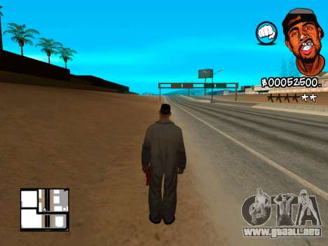 C-HUD WeJack para GTA San Andreas tercera pantalla