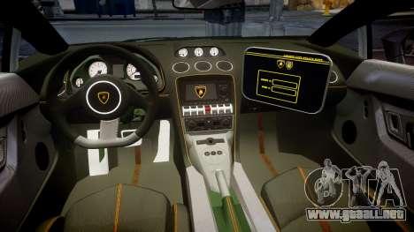 Lamborghini Gallardo LP570-4 LCPD [ELS] para GTA 4 vista hacia atrás