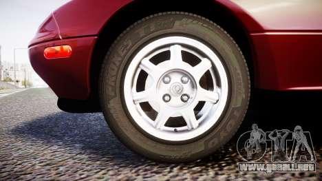 Mazda MX-5 Miata NA 1994 [EPM] para GTA 4 vista hacia atrás