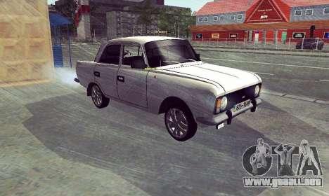 Moskvich 412 Blanco Tragar para GTA San Andreas vista posterior izquierda