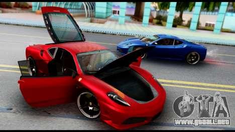 Ferrari F430 Scuderia para visión interna GTA San Andreas