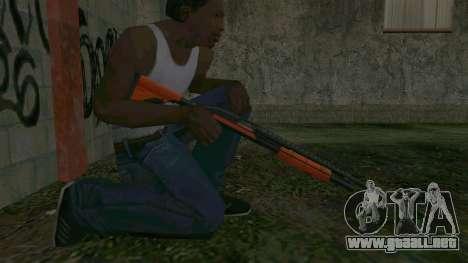 Orange Shotgun para GTA San Andreas sucesivamente de pantalla