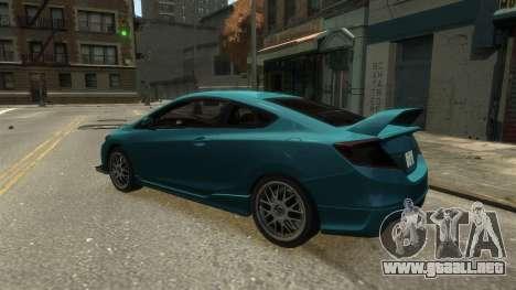 Honda Civic Si 2013 v1.0 para GTA 4 visión correcta