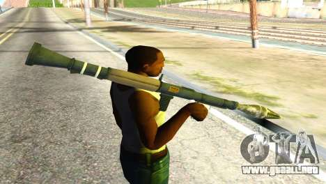 Rocket Launcher from GTA 5 para GTA San Andreas tercera pantalla
