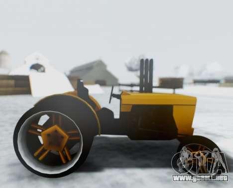 Tractor Kor4 para GTA San Andreas vista posterior izquierda