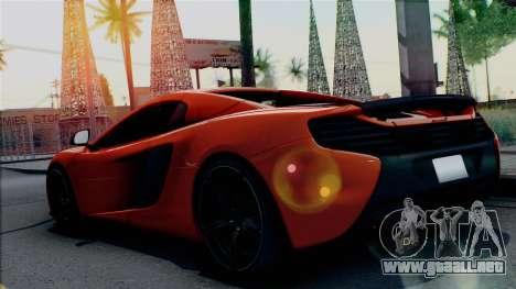 McLaren 650S Spider 2014 para GTA San Andreas left