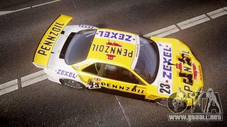 Nissan Skyline R34 2003 JGTC Pennzoil para GTA 4 visión correcta