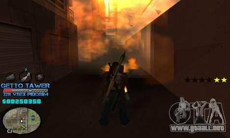 C-HUD Ghetto by Inovator para GTA San Andreas tercera pantalla