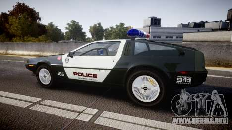DeLorean DMC-12 [Final] Police para GTA 4 left