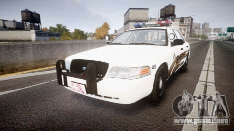 Ford Crown Victoria LCSO [ELS] MX7000 para GTA 4