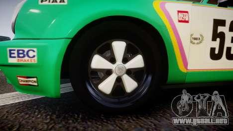Porsche 911 Carrera RSR 3.0 1974 PJ53 para GTA 4 vista hacia atrás