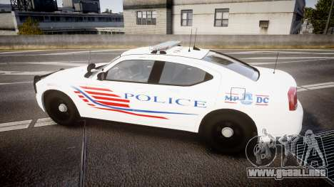 Dodge Charger Metropolitan Police [ELS] para GTA 4 left