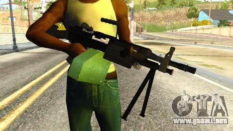 M249 Machine Gun para GTA San Andreas tercera pantalla