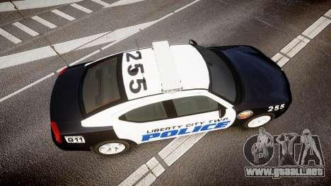 Dodge Charger 2006 LCPD CHGR v2.0L [ELS] para GTA 4 visión correcta