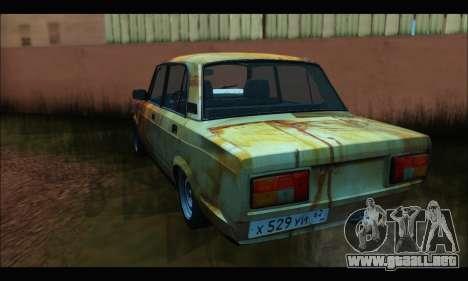 VAZ 2107 Rusty para GTA San Andreas vista posterior izquierda