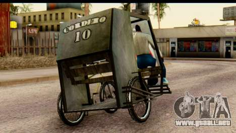 Pedicab Philippines para GTA San Andreas left