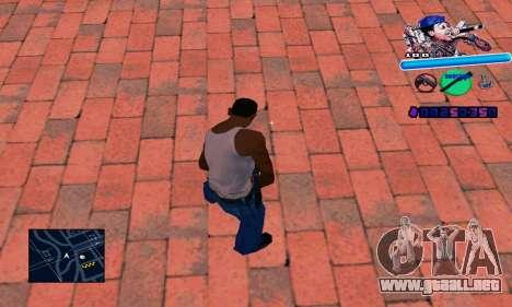 C-HUD Wiz Khalifa para GTA San Andreas segunda pantalla