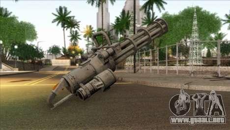 Minigun from GTA 5 para GTA San Andreas segunda pantalla