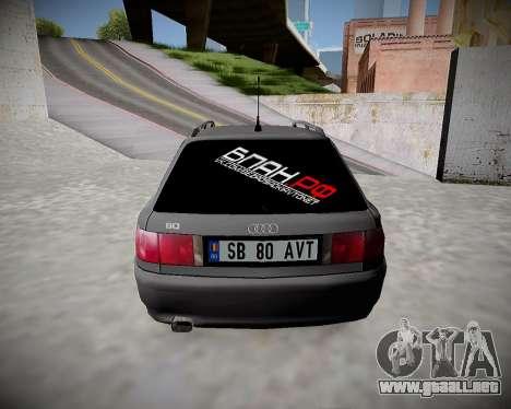 Audi 80 B4 Antes de la PROHIBICIÓN.RF para la visión correcta GTA San Andreas