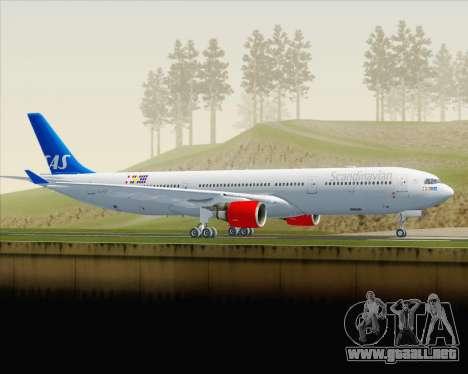 Airbus A330-300 Scandinavian Airlines para GTA San Andreas left