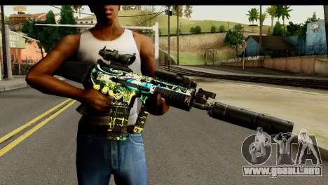 Grafiti M4 para GTA San Andreas tercera pantalla