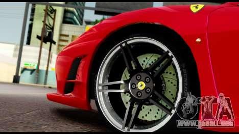 Ferrari F430 Scuderia para la vista superior GTA San Andreas