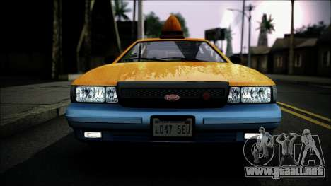 Taxi Vapid Stanier II from GTA 4 IVF para la visión correcta GTA San Andreas