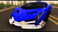 Lamborghini Veneno White-Black 2015 (ADD IVF) para GTA San Andreas