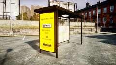 Publicidad de Windows 95 en las paradas de autobús para GTA 4