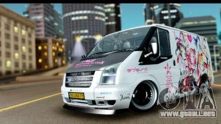 Ford Transit SWB Love Live para GTA San Andreas