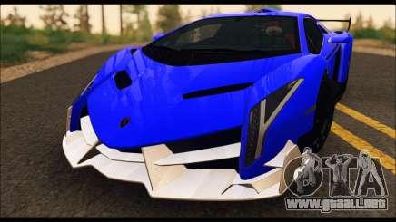 Lamborghini Veneno White-Black 2015 (ADD IVF) para GTA San Andreas
