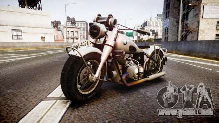 BMW R75 black tires para GTA 4