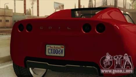 GTA 5 Coil Voltic v2 para GTA San Andreas vista hacia atrás
