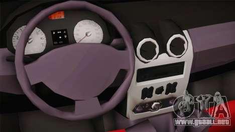Dacia Logan Most Wanted Edition v1 para GTA San Andreas vista hacia atrás